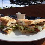 chicken snitzel sandwich