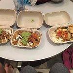 2 Narchos and a burrito bowl