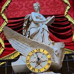 Clio, the muse of history, riding in the chariot of time, by Carlo Franzoni. From 1819.