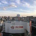From the top floor of MyStays Nagoya Sakae Hotel
