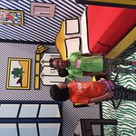 Kaiya and Amira in the pop art exhibit