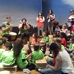 Drum circle and music time was a lot of fun for the kids