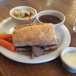 Red Fox Bakery-Cafe - McMinnville, Oregon - Roast Beef Au Jus Sandwich