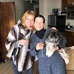 Pam Dole (hotel specialist), Margie (wife) and Quincy (Peke)