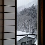 View out to hillside of Nozawa Onsen
