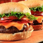 Build your Burger the way you like it . Starts with lettuce, tomato, onion, pickel ...add bacon,
