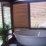 Outdoor Deck Spa with Shutters