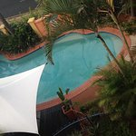 View of pool area from room 306