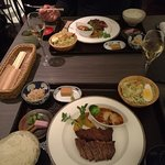 Kobe sirloin steak Japanese lunch set