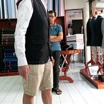 Checking the initial suit fitting