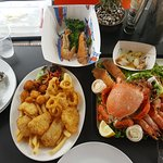 Seafood platter for 2 people - $65