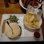 Not the best presented burger.. Chips were undercooked whilst the onion rings were over done.
