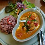 Longan red curry delish
