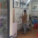 Dafen Painting Village: Artist at work
