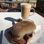 Latte and Bacon and Egg Roll