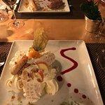 meringue and chocolate dessert