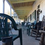We enjoyed the relaxed pace at the Inn. We rocked & read on the veranda; sledded down the hills