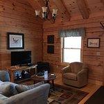 Cozy Sitting Area inside Cabin 5