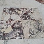 It might be marble, but I think it's granite.