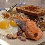 Salmon, eggs and more