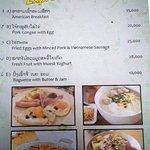 breakfast menu at LV