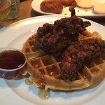 Breakfast for dinner-chicken & waffles! Yum!