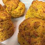 Cheddar and pumpkin scones