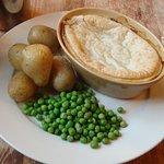 The pie - looks ok but little taste