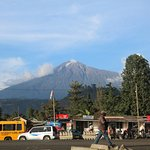 View rom the entrance. Mt Meru in the background