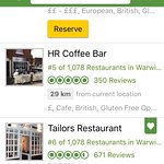 No wonder Tailors is 6th out of 1,078 restaurants in the whole of Warwickshire!