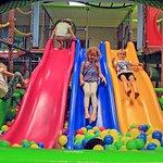 The rainbow tripple slide