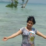 At private beach of dolphin resort