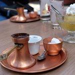 Bosnian coffee and tufahija