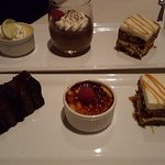Restaurant Week desserts - got to pick 3 of 5 choices!