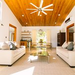 Interior view of our living room at the new Ix Chel Luxury Villas