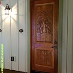 All the room doors were oversized heavy doors with carvings on them