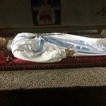 Il corpo di Marietta conservato nel Santuario.