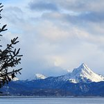Homer Spit, Kachemak Bay, Poot Peak, Kenai Mountain Range, Kachemak Bay State Park.