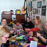 A felting workshop - making angels