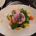 orange Adriatic shrimp ceviche - divine!