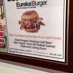 voter's choice award for best burder sign at restaurant