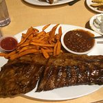 Baby back ribs and 2 sides $22