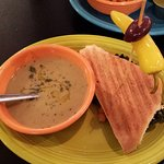 Soup and panini combo - rosemary turnip soup
