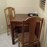 Small table and chain in kitchenette
