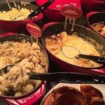 Food under par- dried up vegetables, skin on starter fondue. Disappointing visit