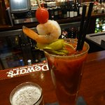 Bloody Mary accompanied by a Ditka ale.