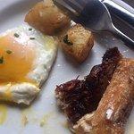 Pork belly w sunny side eggs.