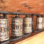 Wishing wheel (Mane) at Nepal Authentic Dining