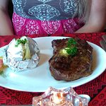 $36 ribeye plate (includes garlic bread, salad bar and dessert)