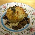 Gattoncino patate, ricotta & sauted mushrooms